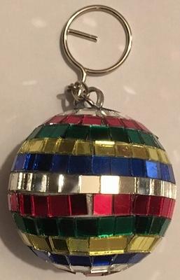 Sleutelhanger Gekleurde spiegelbol van 5 cm nu vanaf € 0,59