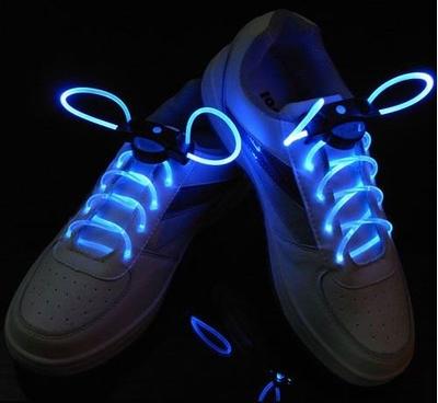 Verlichte Blauwe schoenveter