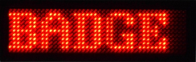 Rode LED Badge 44 x 11 ledjes