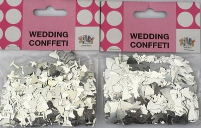 Zilver Metallic Confetti (2 zakjes) nu met 50% korting