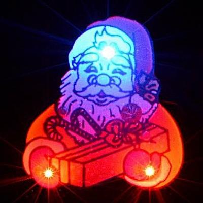 Kerst Blinkie Kerstman met Cadeau