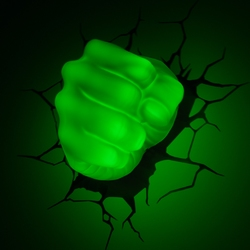 3D Led lamp Groen Hulk vuist