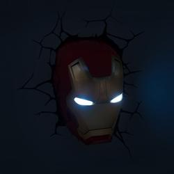 3D Led lamp Iron Mask