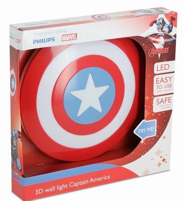 3D Led lamp Captain America Shield Light