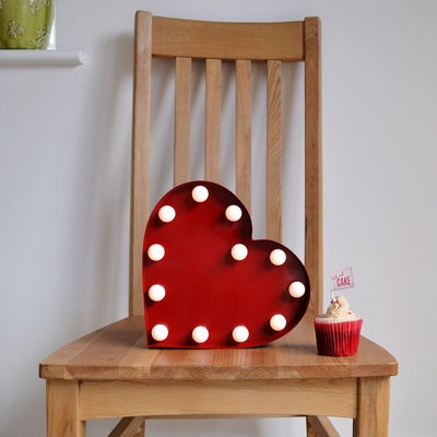 Led lamp rood Hart