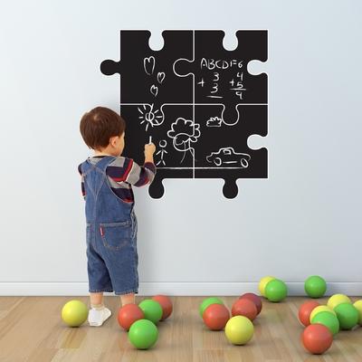Muursticker - Krijtbord Puzzel