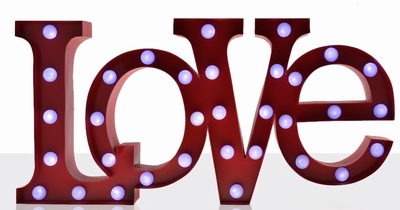 Carnival LED Light LOVE - Red
