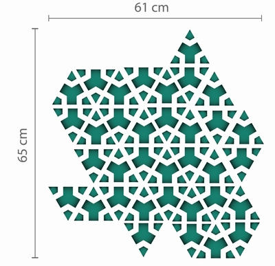 Muursticker - Groene Driehoek Geometrisch Patroon