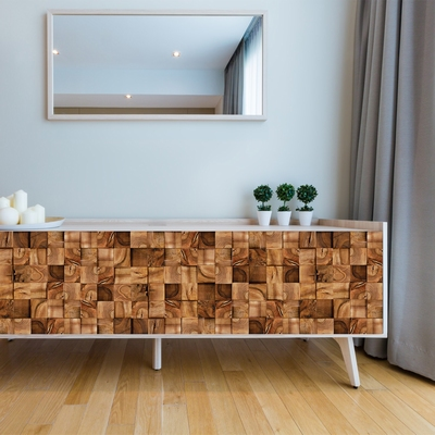 Wall Mural - Square Timber