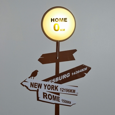LED Lamp met Muursticker HOME