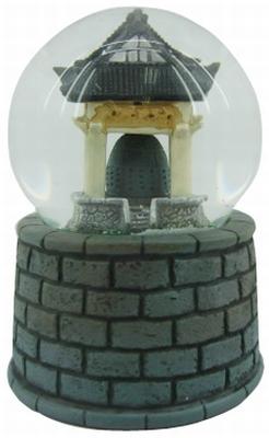 Sneeuw Bol Tempel Bell met Geluid