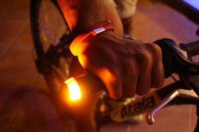 Magnetische fiets stuur knipperlichten