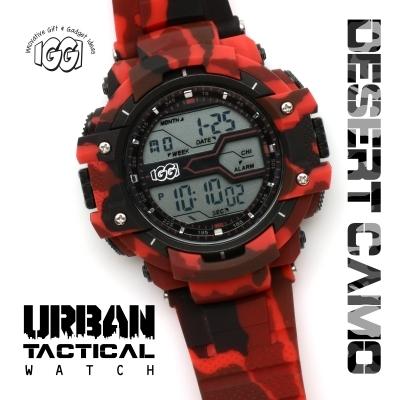 IGGI Camouflage Horloge - Rood