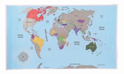 Wereld kras kaart