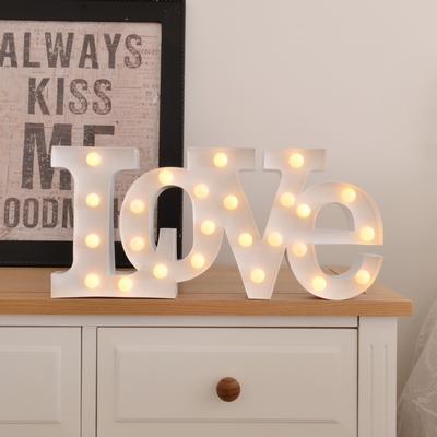 Carnival LED Light LOVE - White