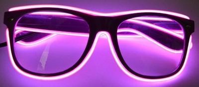 Paarse bril met roze El-Wire