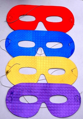 Set van 4 papieren oogmaskers (set 3)