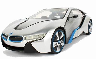 BMW i8 1:14 met LED Lichten Zilver RC
