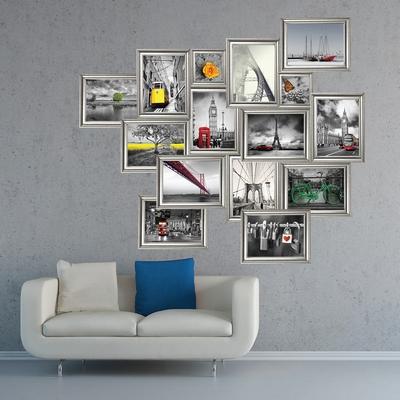 Muursticker - Zilver Frame Stickers