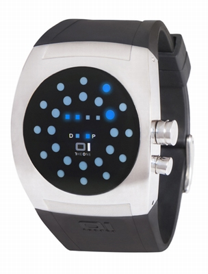 Screw Me LED Horloge Blauw
