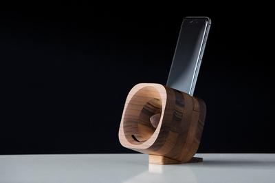 Houten Smartphone iPhone 6 (s) Plus versterker - Walnoot