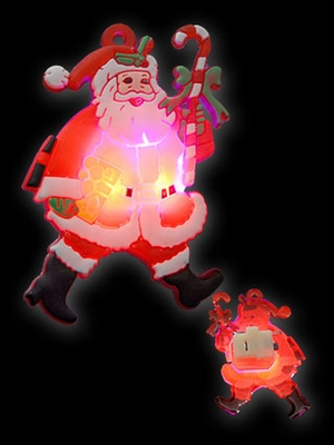 Kerst Blinkie Lopende kerstman