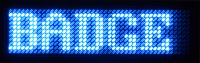 Blauwe LED Badge 44 x 11 ledjes