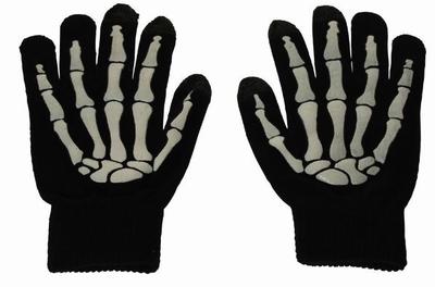 Glow in the Dark Skelet Touch Handschoenen (per paar)