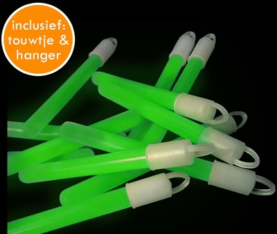 Glowstick Groen (10 x 1,5 cm) per 100 stuks