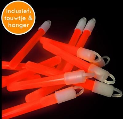Glowstick Oranje (10 x 1,5 cm) per 100 stuks