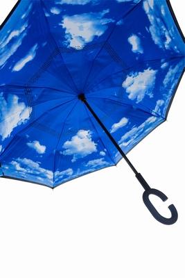 Dubbeldoeks Omgekeerde Wolken Paraplu