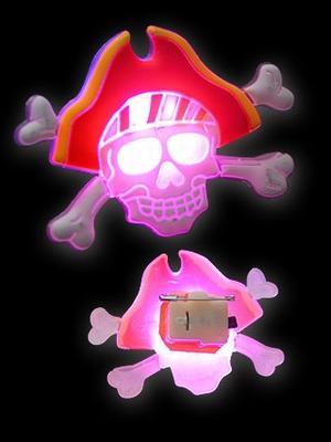 Halloween Gummi Blinkie Doodskop Kapitein