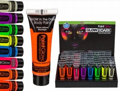 Glow Gezicht en Lichaamsverf Assorti Voordeel Pack (8 st.)