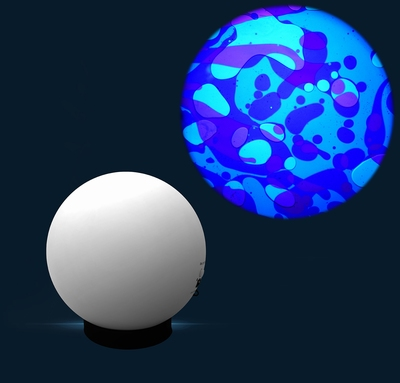 Aura led projector met Oliewiel Blauw/Violet