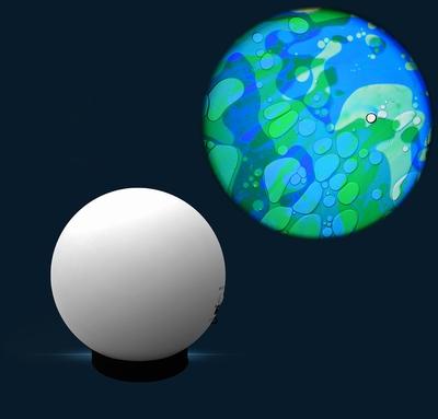 Aura led projector met Oliewiel Blauw/Groen