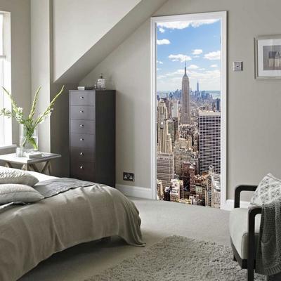 Deursticker Manhattan Uitzicht