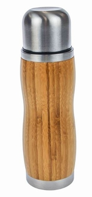 Bamboo Dubbelwandige Eco Thermosfles - 380 ml