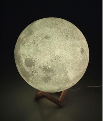 3D Maanlicht Lamp Met Afstandsbediening - 16 kleuren 28 cm
