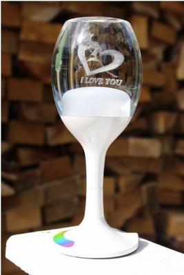 Moodlight LED Love Lamp Wijnglas met RGB Verlichting