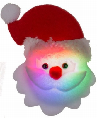 Kerst Blinkie stoffen Kerstman nu van €1,25 voor €0,99