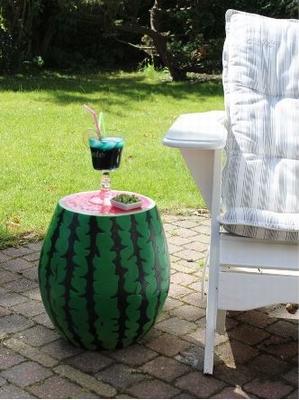 Bijzettafel / Kruk - Watermeloen