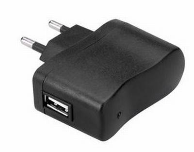 USB Adapter 5V/1000mA voor opladen led badges