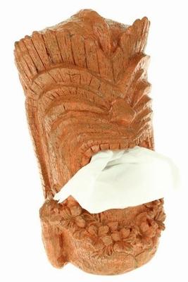 Tiki Tissue box houder - Rode Klei