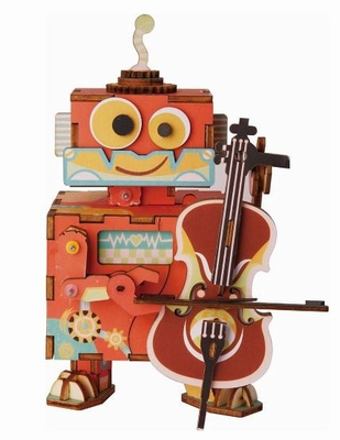 Robotime Kleine Performer - Houten Modelbouw - Muziekdoos