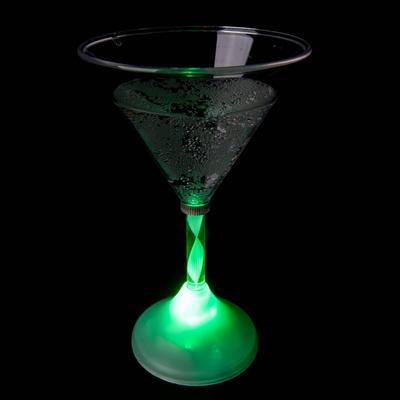 Martini glas met licht