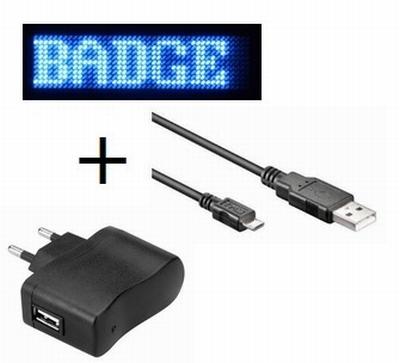 LED Badge Blauw Voordeel Pakket