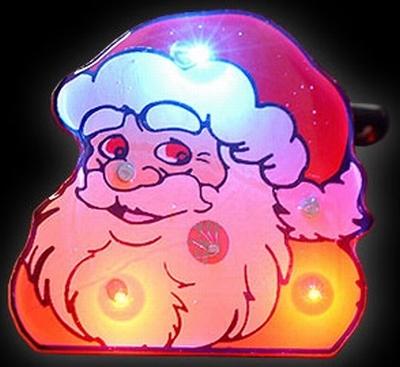 Kerst Blinkie hoofd kerstman 2