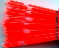 Rode Glowsticks 200 x 5 mm (per 100 stuks)