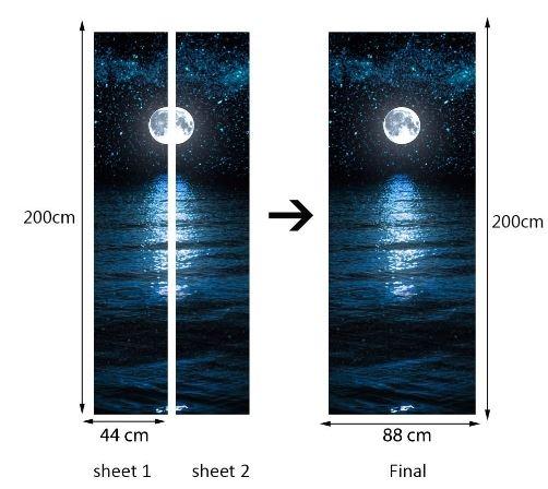 Deursticker Maan en Sterren