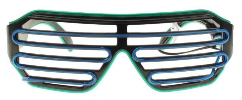El-Wire shutter bril Blauw/Groen nu voor €12,95